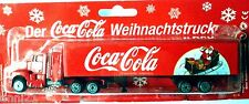 3)HO 1:87 COCA COLA GERMAY X-MAS TRUCK KENWORTH SEMI TRAILER WITH SLEDGE 2002