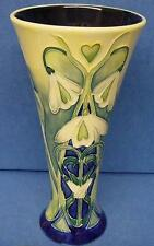 OLD TUPTON WARE ART NOUVEAU SNOWDROP FLARED RIM TUBELINED TRUMPET VASE 6527