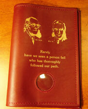 Alcoholics Anonymous AA Big Book Founders Medallion Holder Burgundy Cover Coin
