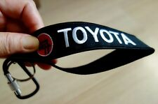 TOYOTA Keychain Embroidered Fabric Strap Keyring Holder Motorcycle Car Gift New