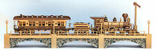 Woodworking plans for building a three car Iron Horse Train