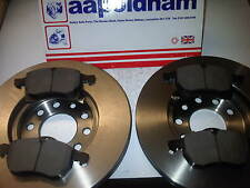 VAUXHALL ASTRA G 1.6 1.7 1.8 2.0 2X NEW FRONT VENTED BRAKE DISCS & PADS 5 STUD
