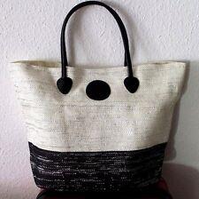 Strandtasche Tasche Beutel Handtasche Shopper schwarz-silber-weiß heine
