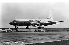 Postcard 873 - Aircraft/Aviation Real Photo Bristol Brittania 302