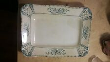 Vintage F & Sons (Ford) Burslem Blue / Large Platter / Dish 11 Inches by 8 Inch
