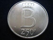 """MDS BELGIEN 250 FRANCS 1976 """"25. THRONJUBILÄUM KÖNIG BAUDOUIN"""", SILBER  #4"""