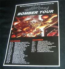 Motorhead concert poster Bomber Tour UK 1979 new A3 size repro