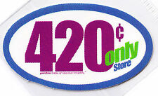420 CENT ONLY Sticker Parotee Marijuana Collectible Funny Decal Weed Ganja Bong