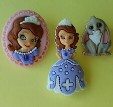 SOFIA THE FIRST - Disney Princess Clover Rabbit Cameo Dress It Up Craft Buttons