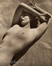 1940 Vintage FEMALE NUDE Woman Breasts England Beach Photo Art Deco JOHN EVERARD