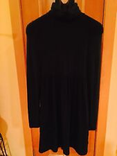 Patrizia Pepe Turtleneck Stretch Dress Black Size 44 Made in Italy