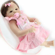 """22"""" solid silicone reborn baby dolls wholesale lifelike baby soft doll girl"""