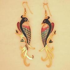 Cloisonné Ohrhänger Pfau 137.1 ver-gold-et Cloisonne earring Peacock Email