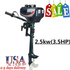 3.5HP Updated Outboard Engine Fishing BOAT MOTOR ENGINE w/2-Stroke Water Cooled