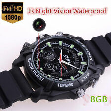 12MP 1080P Spy Hidden Camera DVR Watch Cam IR Night Vision Waterproof 32GB