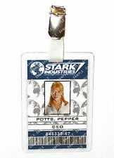 Iron Man Pepper Potts ID Badge Stark Industries Cosplay Prop Costume Christmas