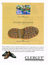 PUBLICITE ADVERTISING 074  1991  CLERGET  chaussures