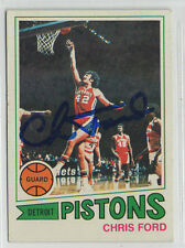 Chris Ford 1977 Topps signed autographed card Detroit Pistons