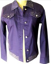 Jacket with rhinestones buttons stretch fitted decorated  XS to 3X