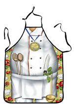 New & Funny! FAT CHEF APRON Kitchen BBQ Fun Novelty Gag Gift 71168