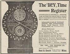 Z1374 The DEY Time Register - Pubblicità d'epoca - 1909 Old advertising