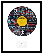 ELVIS - MEMORABILIA - SUSPICIOUS MINDS - Vinyl Art - Ltd Edition - Ideal Gift