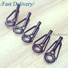 SALE 30PCS FISHING GUIDE TIP TOP RING LINE RING BLACK SET WITH BOX BUILDING