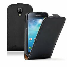 Ultra Slim BLACK Leather case cover for Samsung Galaxy S4 Mini GT-i9190 / i9195