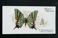 The Kaisar -I - Hind  Butterfly      Vintage Colour Card  VGC