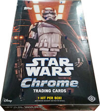 Star Wars the Force Awakens Chrome Factory Sealed Trading Card Hobby Box