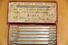 Bergeon No 1897 Watchmakers or Clock makers Set of 6 double roller cutters