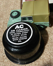 Land Rover Series 1 2 2a AC Vintage Breather Cap Label Decal White on Black