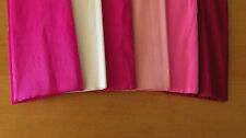 """6 SHEETS OF CREPE PAPER 19""""x78""""   FUN PINKS MIX"""