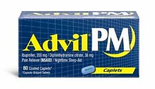 Advil PM Pain Reliever/Nighttime Sleep Aid Caplets 80ct -FREE WORLDWIDE SHIPPING