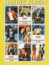 ROLLING STONES MICK JAGGER ROCK N ROLL MUSIC CONGO 2005 MNH STAMP SHEETLET