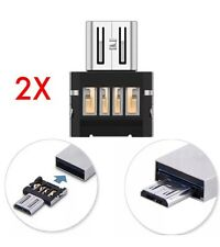2X OTG Adapter Micro USB Male to USB Female For Samsung Android Phone Tablet PC