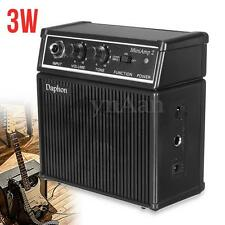 DC Portable Mini 3W Watt 8ohm Electric Guitar Amplifier Amp Power Micro Speaker