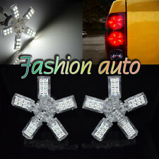 2pc 40 SMD 3157 3528 White LED SPIDER 5-ARM TURN/TAIL/BRAKE/STOP LIGHT BULB