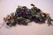 Hydrangea and Roses on Leaves Swags Artificial Flowers Silk Plant Decor 24""