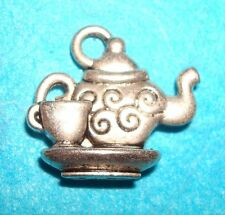 Pendant Tea Pot Charm Alice in Wonderland Tea Party Charm English Charm Tea Set