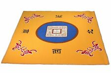 "31.5"" Yellow Slip Slide Resistant Mahjong Domino Card Game Table Cover Mat"