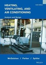 Heating Ventilating And Air Conditioning Analysis & Design 6Th Ed Int'L Edition