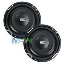 "(2) MTX FPR12-04 12"" FLAT PISTON ROUND Series CAR SUB SUBWOOFERS 4-OHM *PAIR*"