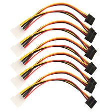 5pcs 4 Pin IDE to 2 Serial ATA SATA Y Splitter Hard Drive Power Adapter Cable