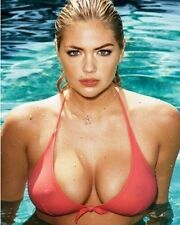 Kate Upton Color 8x10 Photo 203 HUGE BREAST IN POOL