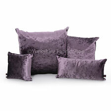 New Luxury Crushed Velvet Fabric Reversible Filled Cushions British Made Quality