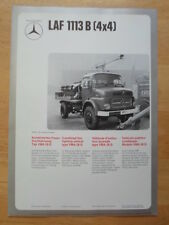 MERCEDES BENZ L306D & LAF 1113B 4x4 Fire Fighting Vehicle 1974 Leaflet Brochure