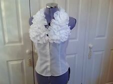 Stunning Anne Fontaine white frill shirt size 38