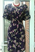 purple floral tea dress size 14