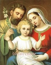 "8"" x 10"" Religious Art  HOLY FAMILY Print Picture"